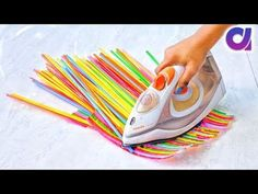 10 Super Cool drinking straws Crafts ideas Best out of waste Artkala 405 is part of Straw crafts - 10 Absolutely awesome craft ideas using drinking straws New drinking straw reuse ideas Best out of waste Artkala 323 A drinking straw is a tube for trans Diy Home Crafts, Diy Arts And Crafts, Diy Crafts To Sell, Easy Crafts, Crafts For Kids, Paper Crafts, Recycled Art Projects, Recycled Crafts, Craft Projects