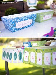 Garden Party printable decorations for Easter | paperandcake.com