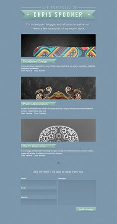Create a stylish portfolio site design in photoshop