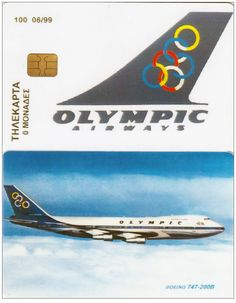 Olympic Airways τηλεκάρτα Jets, Olympic Airlines, Nostalgia, Airline Logo, Boeing 747, Travel And Tourism, Flight Attendant, Airports, Cyprus