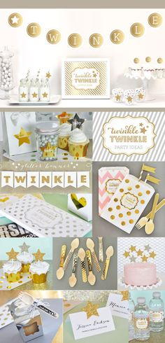 Twinkle Twinkle Baby Shower Decorations - Twinkle Little Star Baby Shower Baby Girl Baby Shower Themes for Girls - Unique Ideas (EB4011TW)