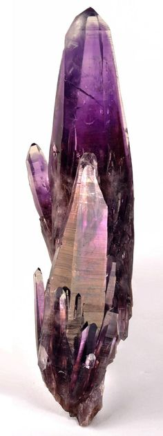 Amethyst, Mun. de Zumpango del Rio, Guerrero, Mexico [how can I resist repinning this...looks like one of the longest, narrowest amethyst crystals I've seen...very powerful & distinctive, relative to the usual, stubby amethyst formation - Kyle]