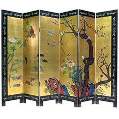Six-Panel Coromandel Screen For Sale Antique Furniture, Cool Furniture, Modern Furniture, Furniture Buyers, Japanese Screen, Japanese Art, Japanese Style, Dressing Screen, Antique Oil Lamps