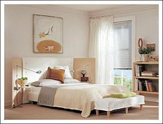 Very simple, but good for small bedrooms!