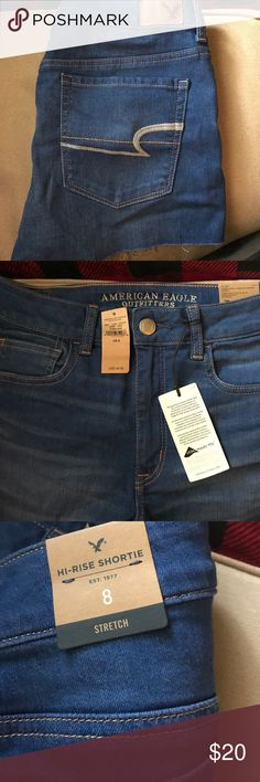 American Eagle Shorts Brand new. With tags. Size 8. High rise. Stretch. American Eagle Outfitters Shorts Jean Shorts