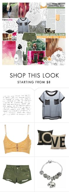 """☾ collab with lili!! -- newchic style 01"" by thundxrstorms ❤ liked on Polyvore featuring Moschino and Work Custom"