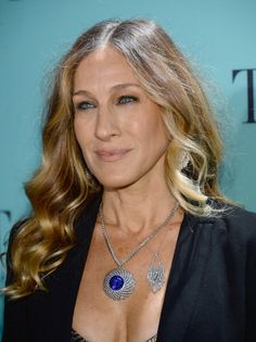 Sarah Jessica Parker at the Tiffany & Co. Blue Book Ball. Makeup by Leslie Lopez.