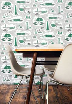 Oh my word! just found this Dungeness Wallpaper by Mini Moderns.