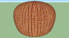 knitted pouffe - 3D Warehouse