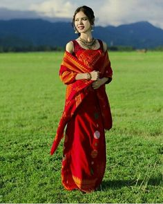 @joyshree_narzary  #northeastyle #stayfashionablytraditional #assam Northeast India, Bodo, Western Outfits, Occasion Wear, Saris, Indian Ethnic, Modern Fashion, Traditional Dresses, Refashion
