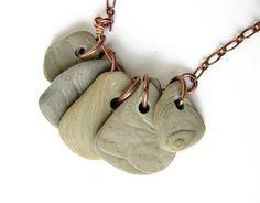 Beach Stone Necklace by Jenny Hoople