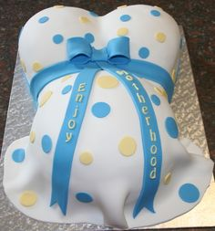 Simple Baby Shower Cake Designs | Belly Cake For Baby Shower Pictures