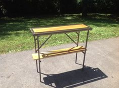 Check out this item in my Etsy shop https://www.etsy.com/listing/195620889/simple-sleek-console-table-with-wood-top