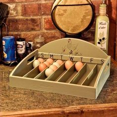 Good way to keep track of when the eggs were laid - love the look too- #babygoatfarm
