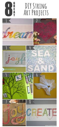 8 Great DIY String Art Projects