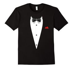 Amazon.com: Tuxedo TShirt with Bowtie For Weddings And Special Occasions: Clothing