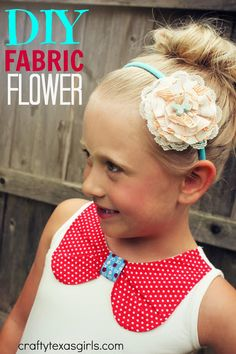 DIY Fabric Flower with modmelts | Crafty Texas Girls: love the lace
