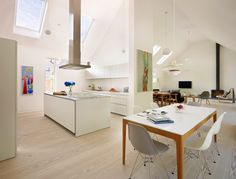 Open-plan kitchens are a clear favourite 54% of UK and Irish homeowners who are planning a kitchen renovation in 2015 favour an open-plan kitchen-diner layout. Seamless integration between living spaces continues to be a key homeowner priority this year.
