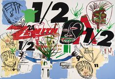 Andy Warhol and Jean-Michel Basquiat, Untitled (Zenith ½)-1984