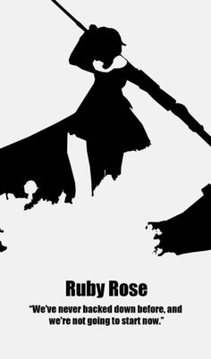 Minimalist RWBY Poster