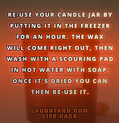 Life hack to re-use candle jar