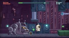 Clumsy runners game screenshot scifi background with astronaut character and robot dog