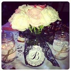 Bridal Shower Decoration  Mason jar vase  Wedding