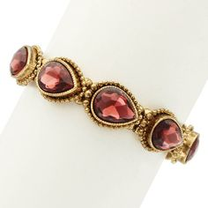 Leigha Bracelet in Burgundy  at Joss and Main