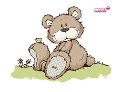 My Teddy Bear, Cute Teddy Bears, Sweet Drawings, Easy Drawings, Tatty Teddy, Creative Pictures, Cute Pictures, Cartoon Art, Cute Cartoon