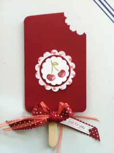 Cherry Popsicle card- Stampin Up!