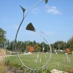 To watch this in motion is mezmerizing.  George Sherwood's kinetic sculpture, Wind Orchid