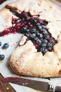 Rustic Bumbleberry Galette by thelittlewhitekitchen: Bumbleberry is a flexible combination of fruits, possibly including apple, rhubarb, blackberry, raspberry, strawberry, and blueberry  choose your favorites. Try combining leftover frozen berries from last summers harvest, and jumble (bumble) them up into one tasty pie filling