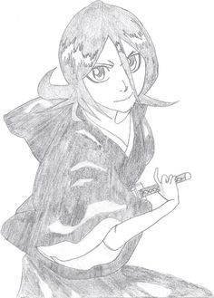 My own (my first attempt at reproducing...the copier destroyed the pretty lines unfortunately)  Rukia Kuchiki, Bleach