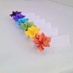 Place Cards Wedding Escort Cards Origami Paper Flower. $1,50, via Etsy.