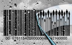 Consumer research concept and customer retail shopping trends as a cloudy rain soaked window with a bar code and a wiper clearing the confusion to reveal real clientele as a business metaphor with illustration elements. Code Art, Living On A Budget, Consumerism, Professional Business Cards, New Pictures, Budgeting, Royalty Free Stock Photos, Coding, Concept