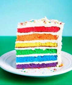 Rainbow Layer Cake #howto #tutorial