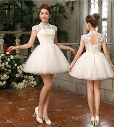 Ready to ship 2015 New Design A Line Appliques Beads Sexy Short Wedding Dresses Vestido De Noiva Curto-in Wedding Dresses from Weddings & Events on Aliexpress.com | Alibaba Group