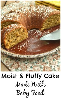 Fluffy & Moist Cake Made With Baby Food - Crafty Cooking Mama Vegetarian Recipes Easy, Healthy Recipes, Baby Fruit, Kid Foods, Mama Recipe, Tasty, Yummy Food, Moist Cakes, Frostings