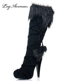 Browse our collection of sexy boots, high heel shoes, ruby slippers and more! We have womens shoes to complete any costume for Halloween! Black Lace Up Boots, Sexy Boots, Black Suede, Sexy Heels, Fur Boots, Bootie Boots, Boots With Fur, Rain Boots, High Heel Boots