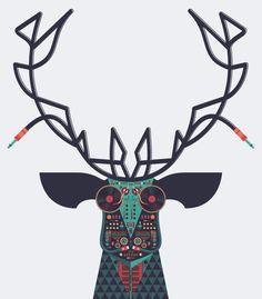 DJ Deer by Tony Bamber, via Behance