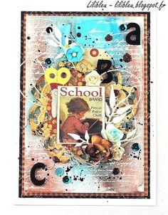 """Carte """"School"""" - DT La Malle Aux Fleurs - By Lilibleu"""