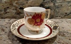 1 Small Vintage Ucagco China Tea Cup & Saucer Made In Occupied Japan