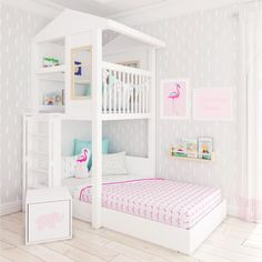 Modern Loft Bed with Playtower and reading nook