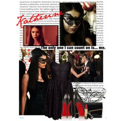 Katherine Pierce - Masquerade Ball by taylorhallam on Polyvore featuring мода, Talula, Masquerade, Christian Louboutin, Moda In Pelle, Gucci and Oris