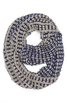 David & Young Two-Tone Infinity Scarf (Juniors) | Nordstrom