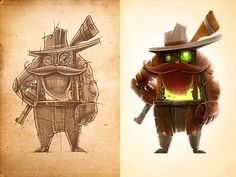 Continue designing characters. More interesting concepts coming on Friday :) Check out @2x to see more details