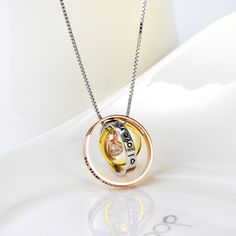 925 Sterling Silver I Love You to The Moon and Back Three Tones Neckla Rose Gold Pendant, Box Chain, Jewelries, 18k Gold, Washer Necklace, Sterling Silver, My Love, Necklaces, Free