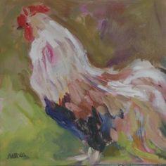 Rooster by Jillian Herrigel, Dimensions: 9 x 9 in, Price: $100.00