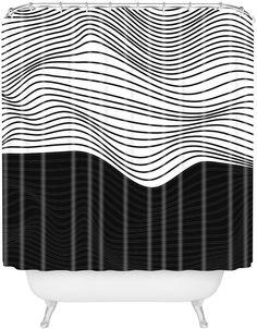 Deny Designs 06 Wavy Stripe Shower Curtain