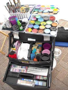 Face painter's set up #facepaint #facepainting #facepaintschool Fat max by Stanley